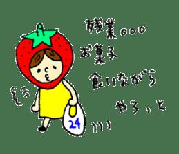 strawberry girl ICHIKO sticker #2086835
