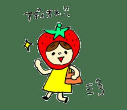 strawberry girl ICHIKO sticker #2086836