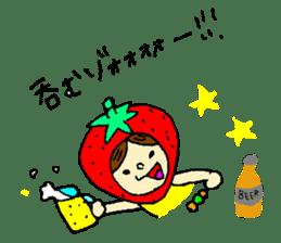 strawberry girl ICHIKO sticker #2086837