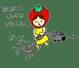 strawberry girl ICHIKO sticker #2086841