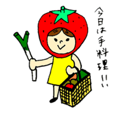 strawberry girl ICHIKO sticker #2086842