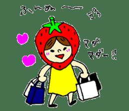 strawberry girl ICHIKO sticker #2086844