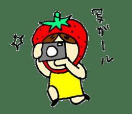 strawberry girl ICHIKO sticker #2086846