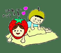 strawberry girl ICHIKO sticker #2086847