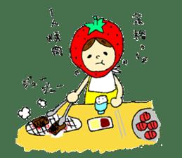 strawberry girl ICHIKO sticker #2086848