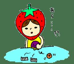 strawberry girl ICHIKO sticker #2086849