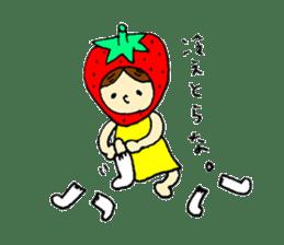 strawberry girl ICHIKO sticker #2086852