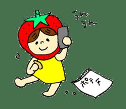 strawberry girl ICHIKO sticker #2086854