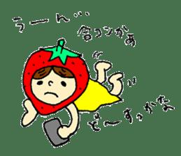 strawberry girl ICHIKO sticker #2086855