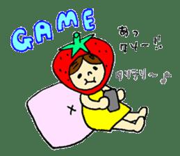 strawberry girl ICHIKO sticker #2086856