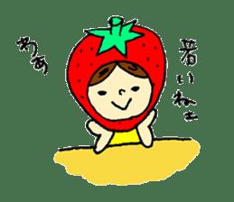 strawberry girl ICHIKO sticker #2086857