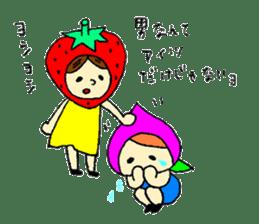 strawberry girl ICHIKO sticker #2086858