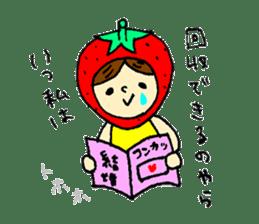 strawberry girl ICHIKO sticker #2086860