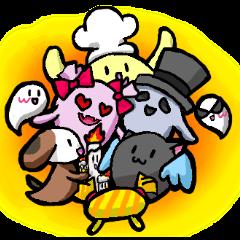 cat monster nana and nana's friends