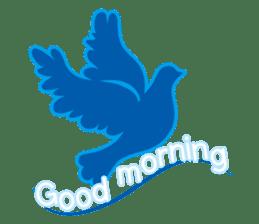 The silhouette of a dove sticker #2091301