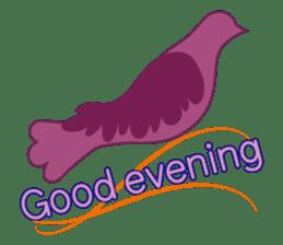 The silhouette of a dove sticker #2091303