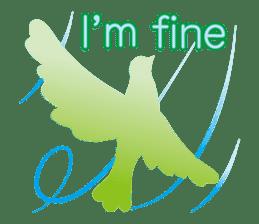 The silhouette of a dove sticker #2091306