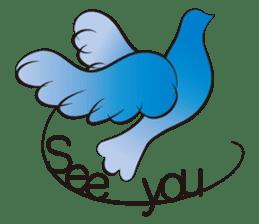 The silhouette of a dove sticker #2091312