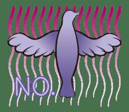 The silhouette of a dove sticker #2091315