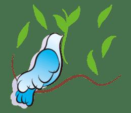 The silhouette of a dove sticker #2091322