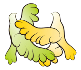 The silhouette of a dove sticker #2091325