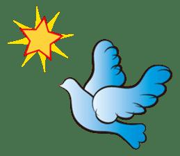 The silhouette of a dove sticker #2091333