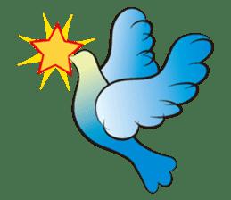 The silhouette of a dove sticker #2091334
