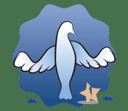 The silhouette of a dove sticker #2091335