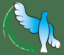 The silhouette of a dove sticker #2091337