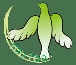 The silhouette of a dove sticker #2091338