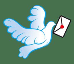 The silhouette of a dove sticker #2091339