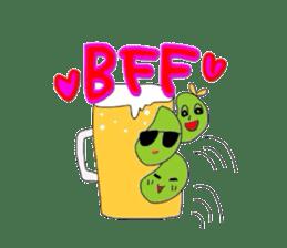 Green soybean Sunglass sticker #2091430