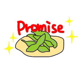 Green soybean Sunglass sticker #2091431