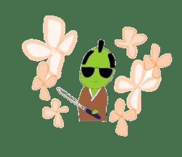 Green soybean Sunglass sticker #2091434