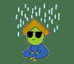 Green soybean Sunglass sticker #2091442
