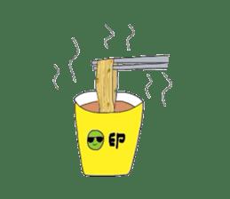 Green soybean Sunglass sticker #2091446