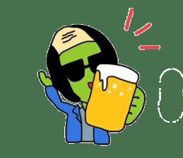 Green soybean Sunglass sticker #2091451