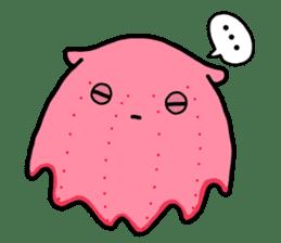 A cute Japanese pancake devilfish sticker #2092710