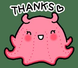 A cute Japanese pancake devilfish sticker #2092715