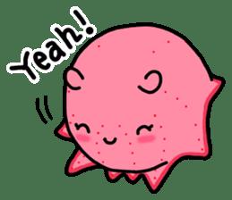 A cute Japanese pancake devilfish sticker #2092720