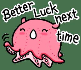 A cute Japanese pancake devilfish sticker #2092722