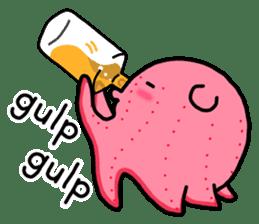 A cute Japanese pancake devilfish sticker #2092735