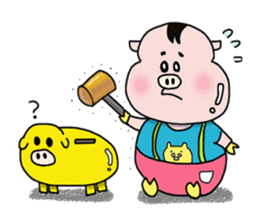 Daily of Piglet Putaro with apples sticker #2092863