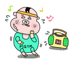 Daily of Piglet Putaro with apples sticker #2092865