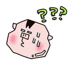 Daily of Piglet Putaro with apples sticker #2092866