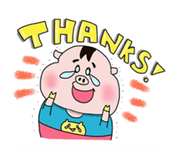 Daily of Piglet Putaro with apples sticker #2092882