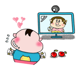 Daily of Piglet Putaro with apples sticker #2092891