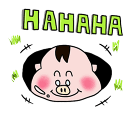 Daily of Piglet Putaro with apples sticker #2092893