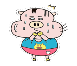 Daily of Piglet Putaro with apples sticker #2092894