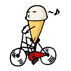The Sticker of Funny Ice cream